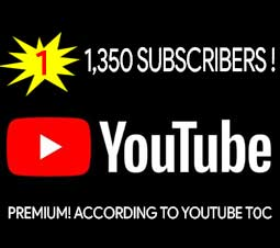 1350 Subs Youtube